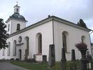 Indals kyrka, exteriör, södra samt östra fasaden.