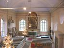 Indals kyrka, interiör, kyrkorummet, vy mot koret från läktaren.