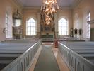 Indals kyrka, interiör, kyrkorummet, vy mot koret.