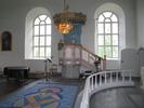 Sköns kyrka, interiör, kyrkorummet, predikstolen.