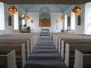 Sköns kyrka, interiör, kyrkorummet, vy mot koret.